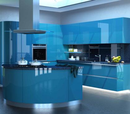 Кухня с радиусным островом