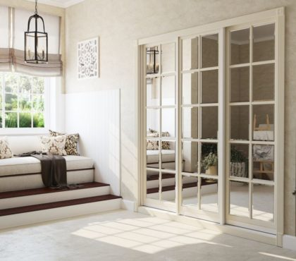 Шкаф встроенный в классическом стиле