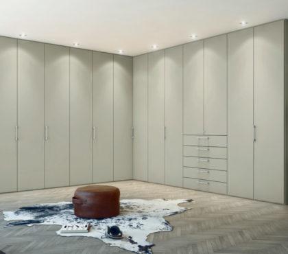 Шкаф до потолка в современном стиле