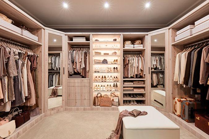 они модная гардеробная комната фото ходе