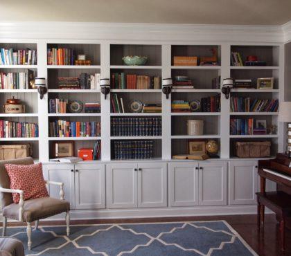 Шкаф для книг белого цвета