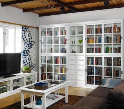 Библиотека для гостиной